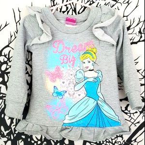 DISNEY Princess Cinderella Dream Big Sweatshirt 2T